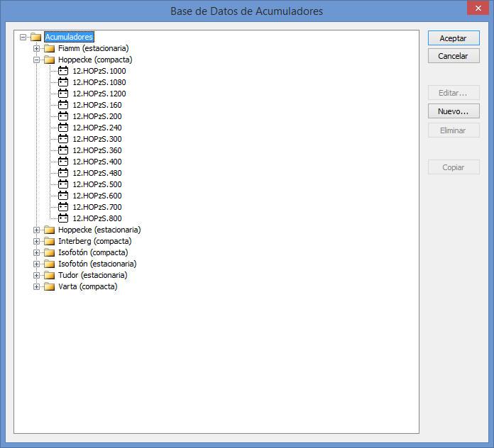 Ayuda TeKton3D-HE5 - Base de datos Acumuladores