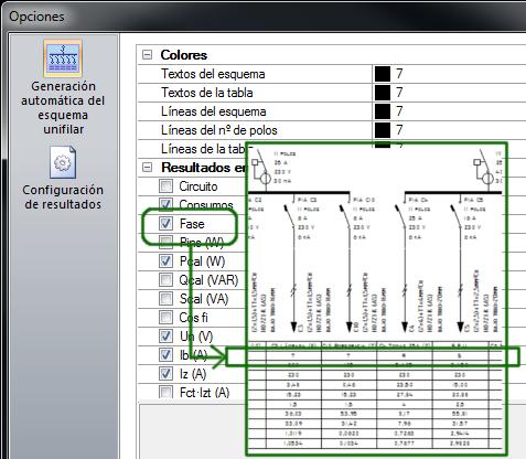 Generar esquemas unifilares con información de fases