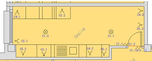 Distribución automática de los puntos de utilización en el plano