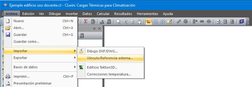 Archivo importar vinculo referencia externa