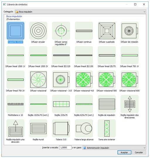 Librería de símbolos personalizable por el usuario
