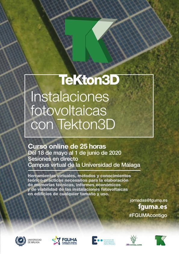 Cartel curso FGUMA Fotovoltaica