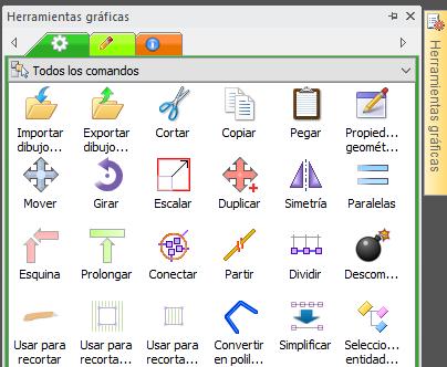 Panel de herramientas gráficas