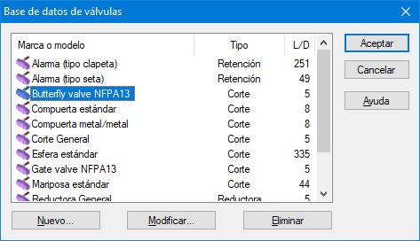 Válvulas NFPA13