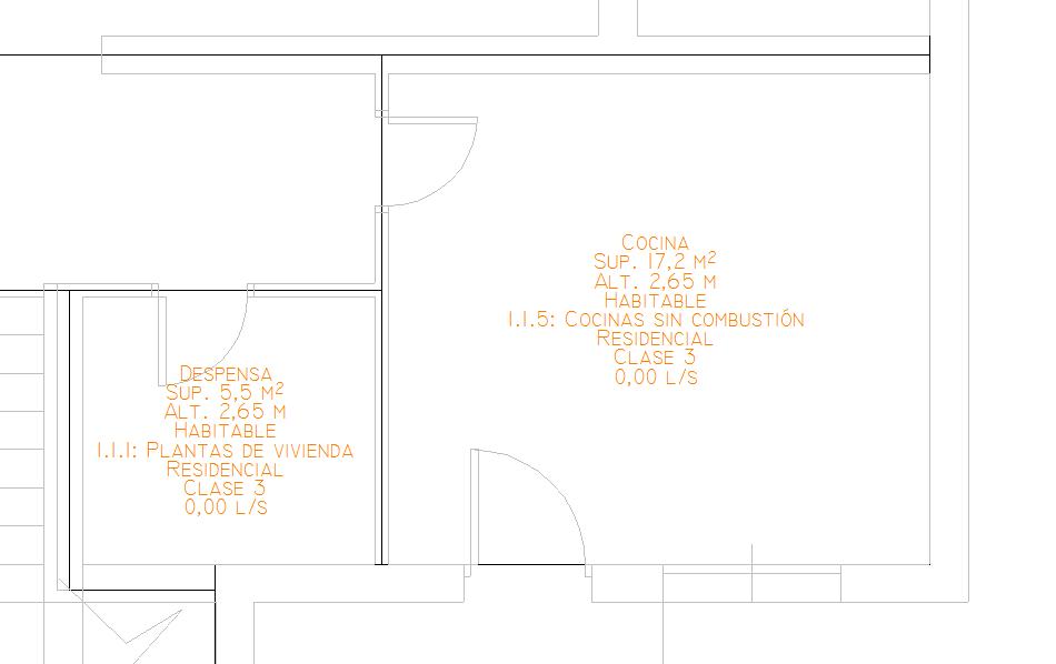 Detalle de espacios en planta