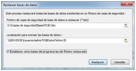Copia de seguridad de las bases de datos