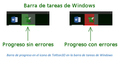 Progreso en el icono de la barra de tareas