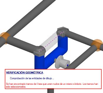Comprobación geométrica de símbolos cortocircuitados