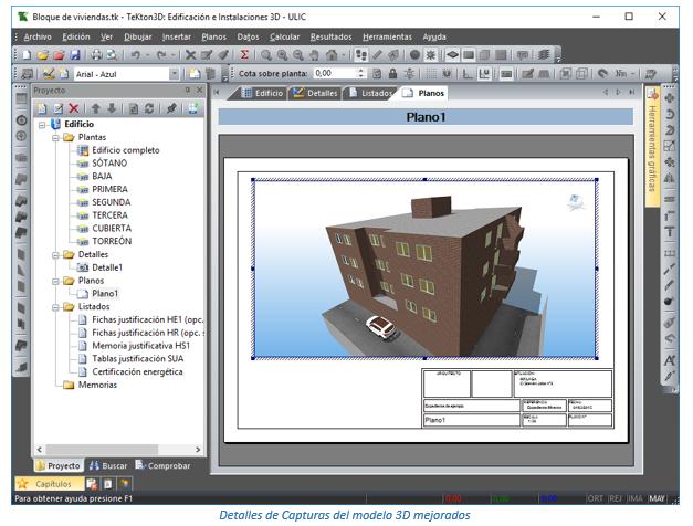 Mejora de calidad en las capturas de vistas 3D del modelo del edificio