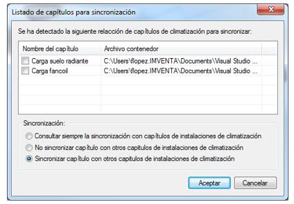 Sincronización capítulos DAC-CDT