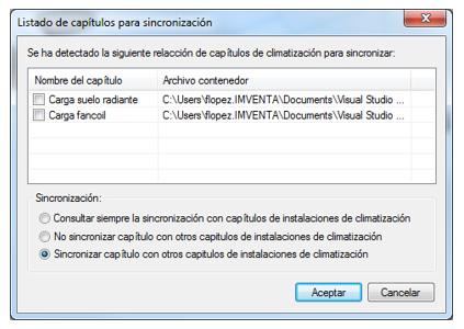Sincronización capítulos ICA-CDT