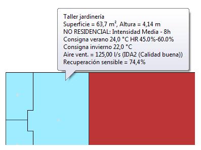 Etiquetas informativas en pantalla