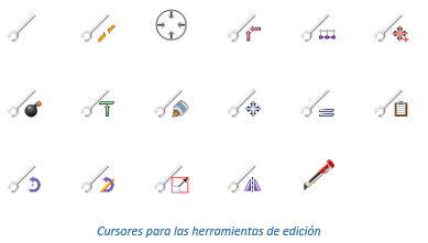 Cursores para las herramientas de edición