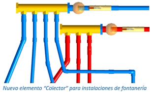 """Nuevo elemento """"Colector"""" para instalaciones de fontanería"""