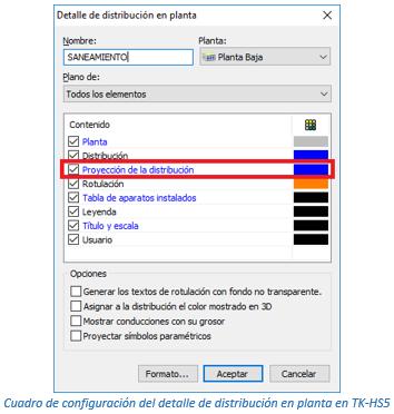 Cuadro de configuración del detalle de distribución en planta en TK-HS5