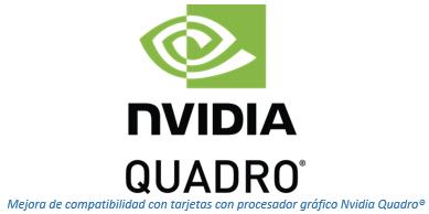 Compatibilidad con tarjetas con procesador gráfico Nvidia Quadro