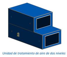 Unidad de tratamiento de aire de dos niveles