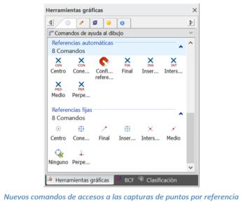 Nuevos comandos de accesos a las capturas de puntos por referencia