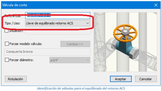 Identificación de válvulas para el equilibrado del retorno ACS