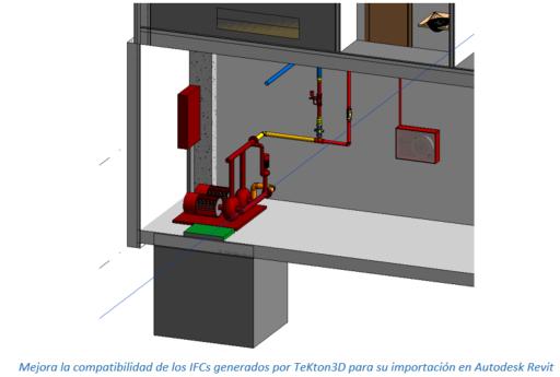 Mejora la compatibilidad de los IFCs generados por TeKton3D para su importación en Autodesk Revit