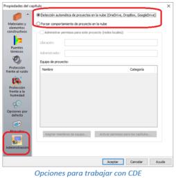 Opciones para trabajar con CDE