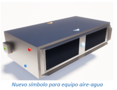 Nuevo símbolo para equipo aire-agua