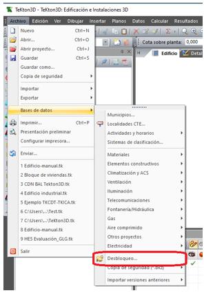 Desbloqueo de bases de datos