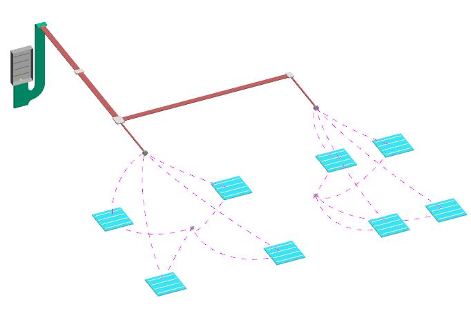 Conexión entre elementos