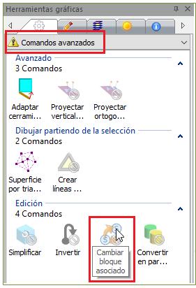 Panel de comandos gráficos