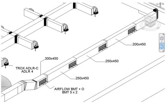 Ejemplo de etiquetado de una vista 3D en Revit
